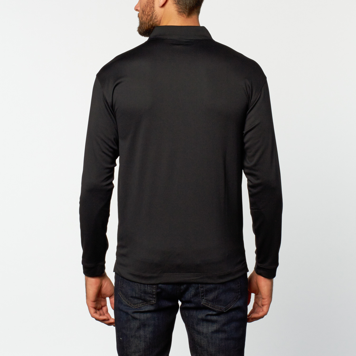 Nike long sleeve stretch polo black s mercedes benz for Mercedes benz wear