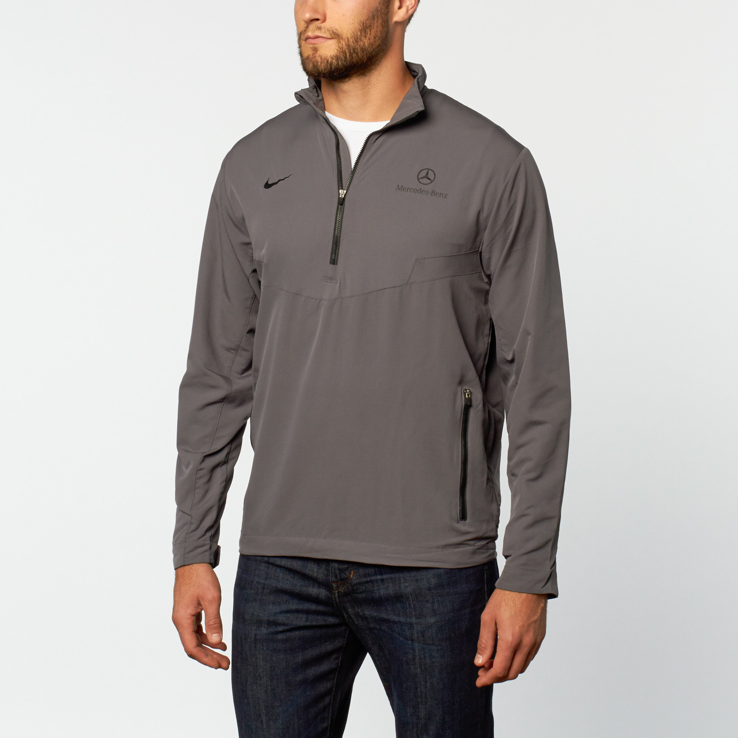 84cc6a2e4 Nike Half Zip Windshirt // Grey (S) - Mercedes-Benz Clothing - Touch ...