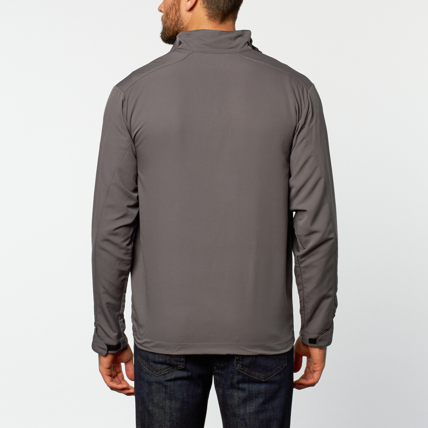 Nike half zip windshirt grey s mercedes benz for Mercedes benz wear