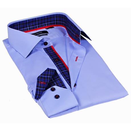 Classic Button-Up Shirt // Light Blue