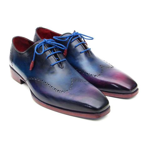 Wingtip Oxfords // Blue + Purple (Euro: 38)