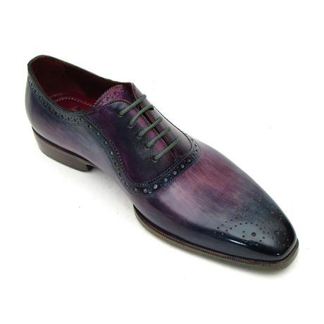 Medallion Toe Oxford // Purple + Navy