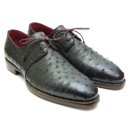 Genuine Ostrich Goodyear Welted Derby // Green (Euro: 38)