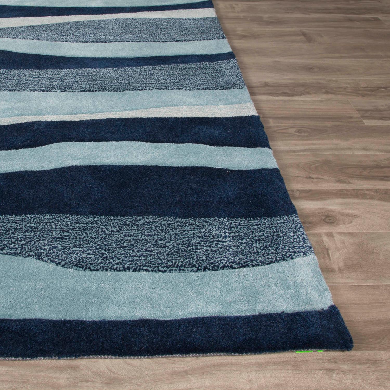 Coastal Tides Area Rug Blue Ivory 7 6 X 9 6
