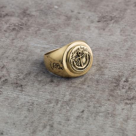 Sailor's Signet Ring // Brass