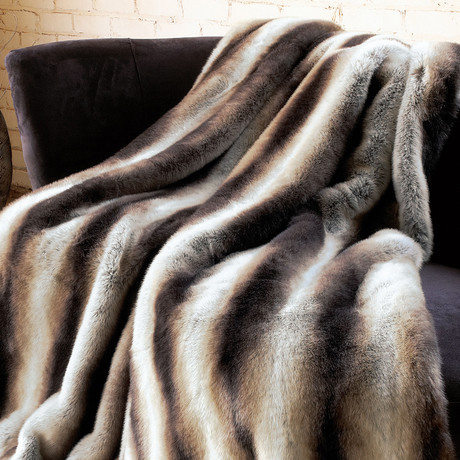 Limited Edition Faux Fur Throw // Chinchilla