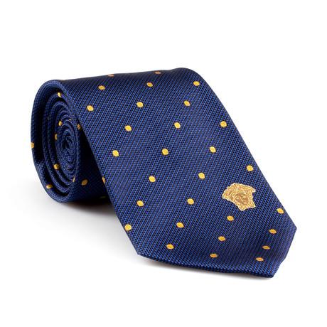 silk tie blue gold dot versace ties touch of modern