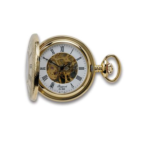 Half Hunter Pocket Watch // Skeleton Dial // PW56