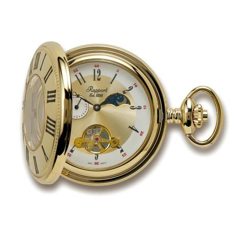Rapport London Half Hunter Pocket Watch Mechanical // Moon Phase // PW68