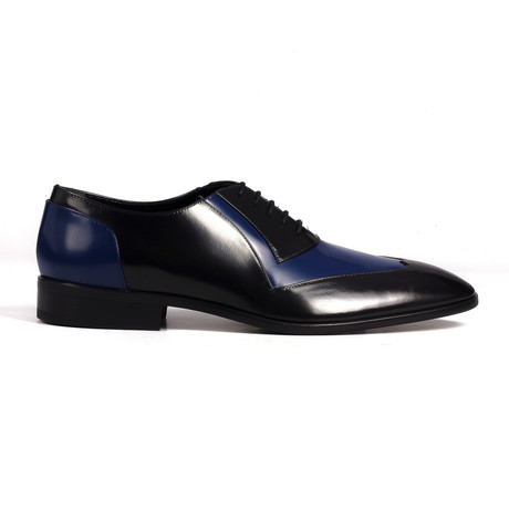Patent Two Tone Derby // Black + Cobalt