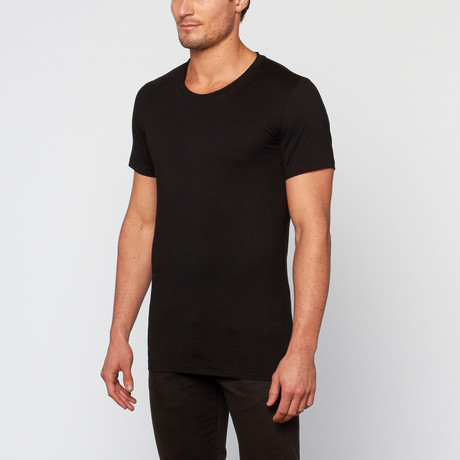 Raw Crew Neck Tee // Black