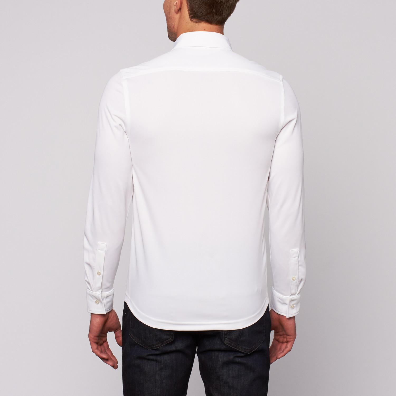 Performance Dress Shirt Classic White Xs Kuul