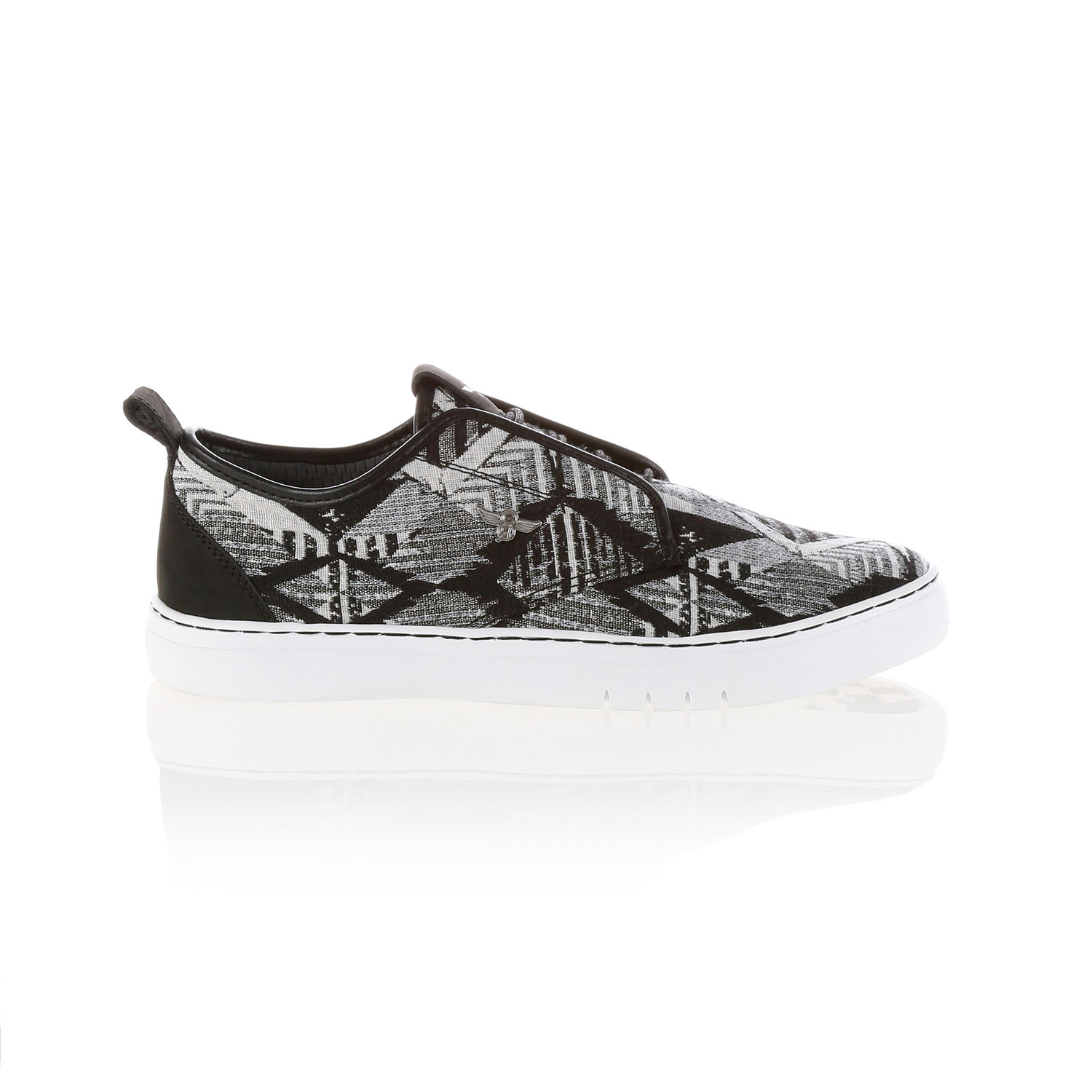 lacava q tribal low top sneaker black white us 7 creative