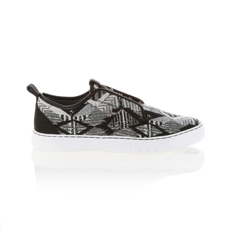 Lacava Q Tribal Low-Top Sneaker // Black + White