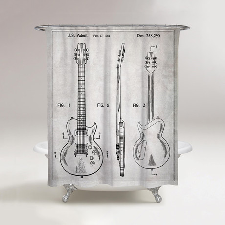 Electric Guitar Shower Curtain 1981