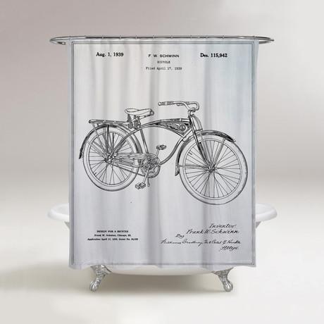 Schwinn Bicycle Shower Curtain // 1939