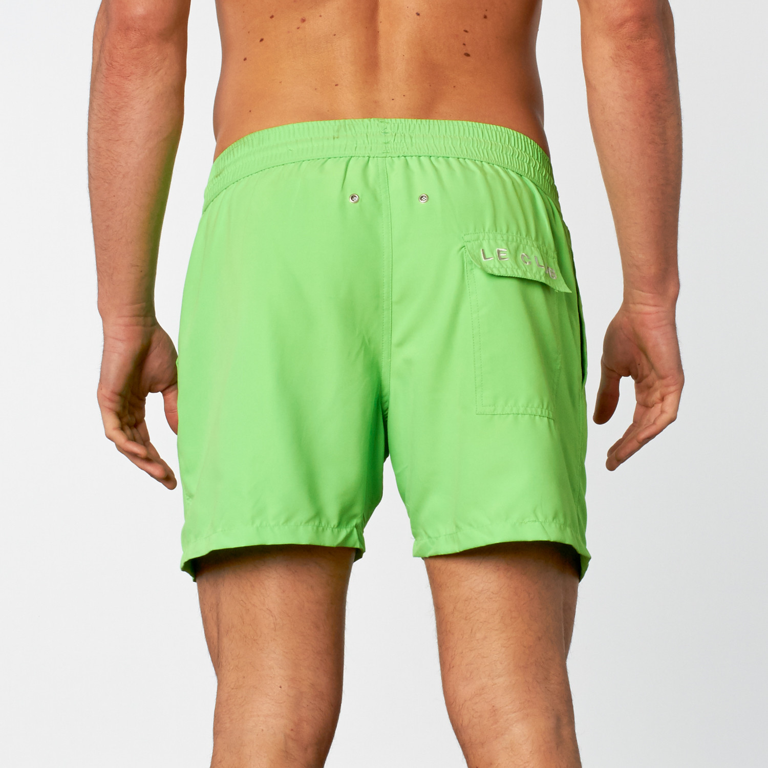 2f208a9765047 Solid Swim Short // Neon Green (S) - Le Club - Touch of Modern