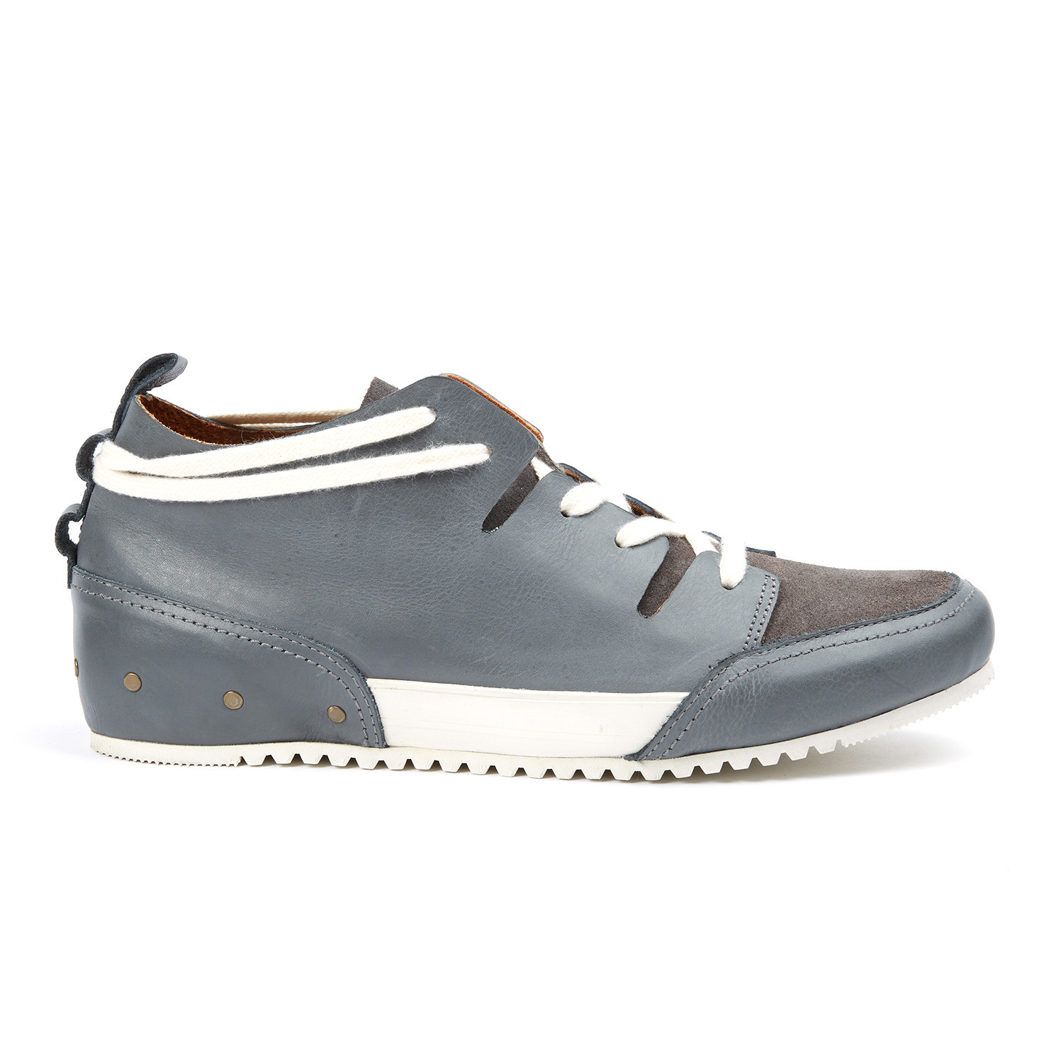 74b10f2c53a933 MCNDO    Champs Leather Sneaker    Grey (US  7) - MCNDO Shoes ...