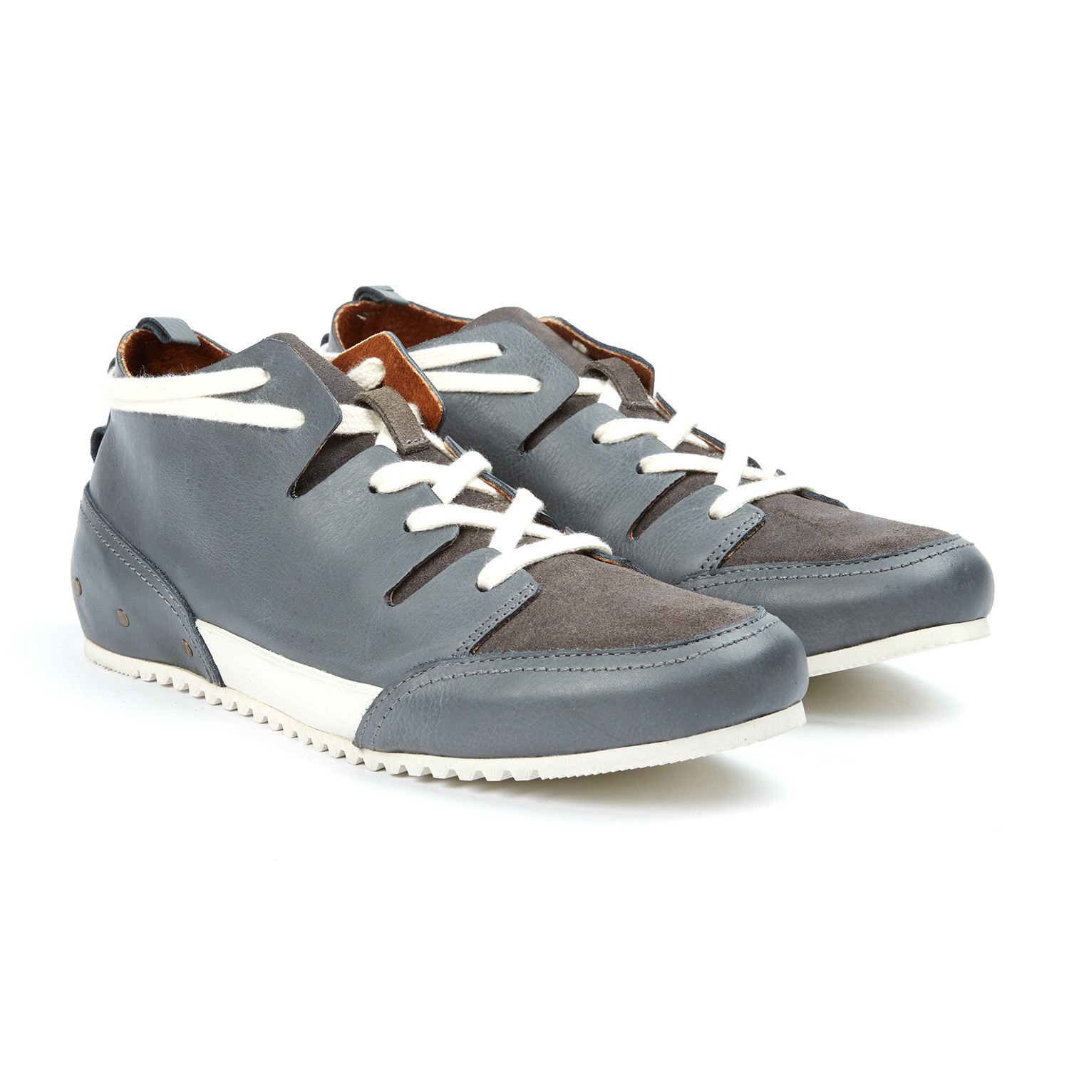 e7e06219792dc1 MCNDO    Champs Leather Sneaker    Grey (US  7) - MCNDO - Touch of ...