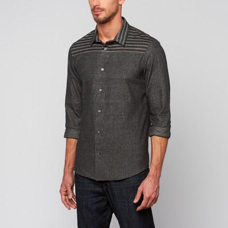 Shadow Flannel Shirt // Grey + Black