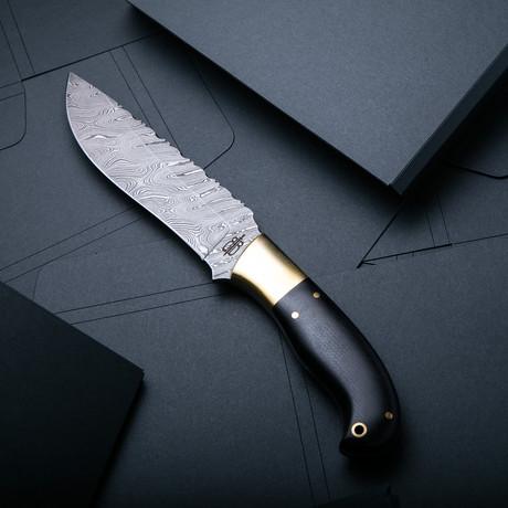 Hunting Knife // Black Micarta