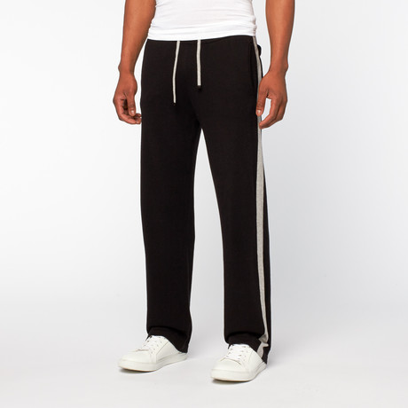 Cashmere Cotton Drawstring Pants // Black (S)