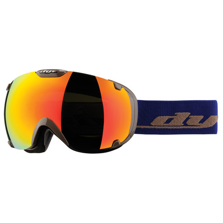 T1 Snow Goggle // Solid Gray/Blue // Bronze Fire Lens