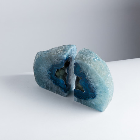 Agate Bookends // Blue