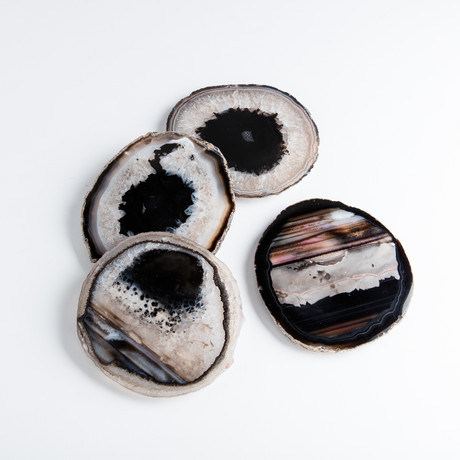 Agate Coasters // Set of 4 (Black)