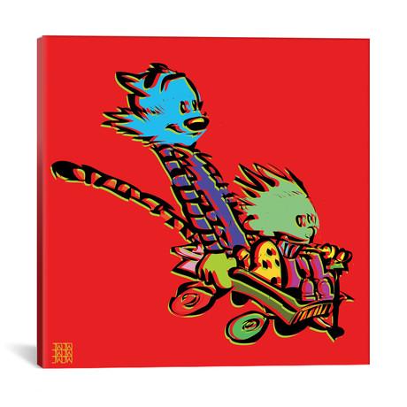 "Calvin & Hobbes (18""W x 18""H x 0.75""D)"