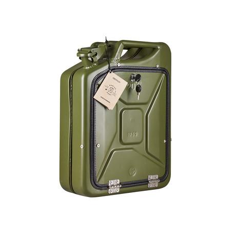 Bar Cabinet // Army Green (Oak)