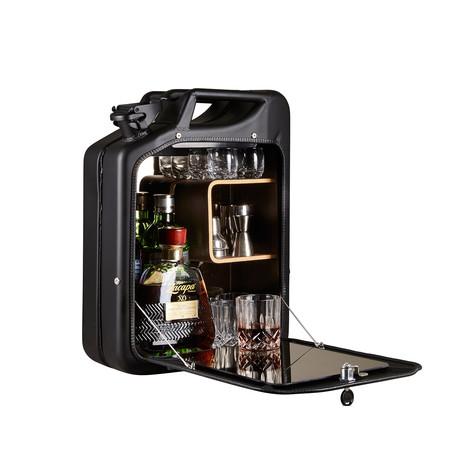Danish Fuel // Bar Cabinet // Nano Black (Oak)