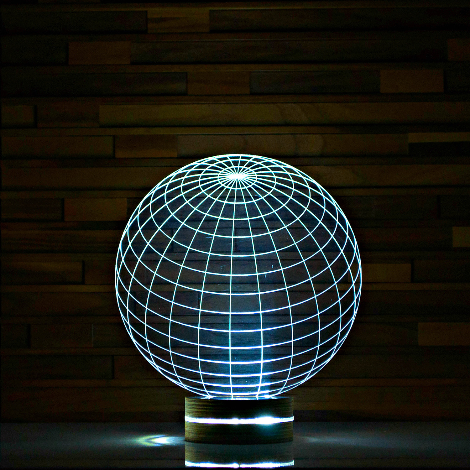 world 3d led lamp artisticlamps touch of modern. Black Bedroom Furniture Sets. Home Design Ideas