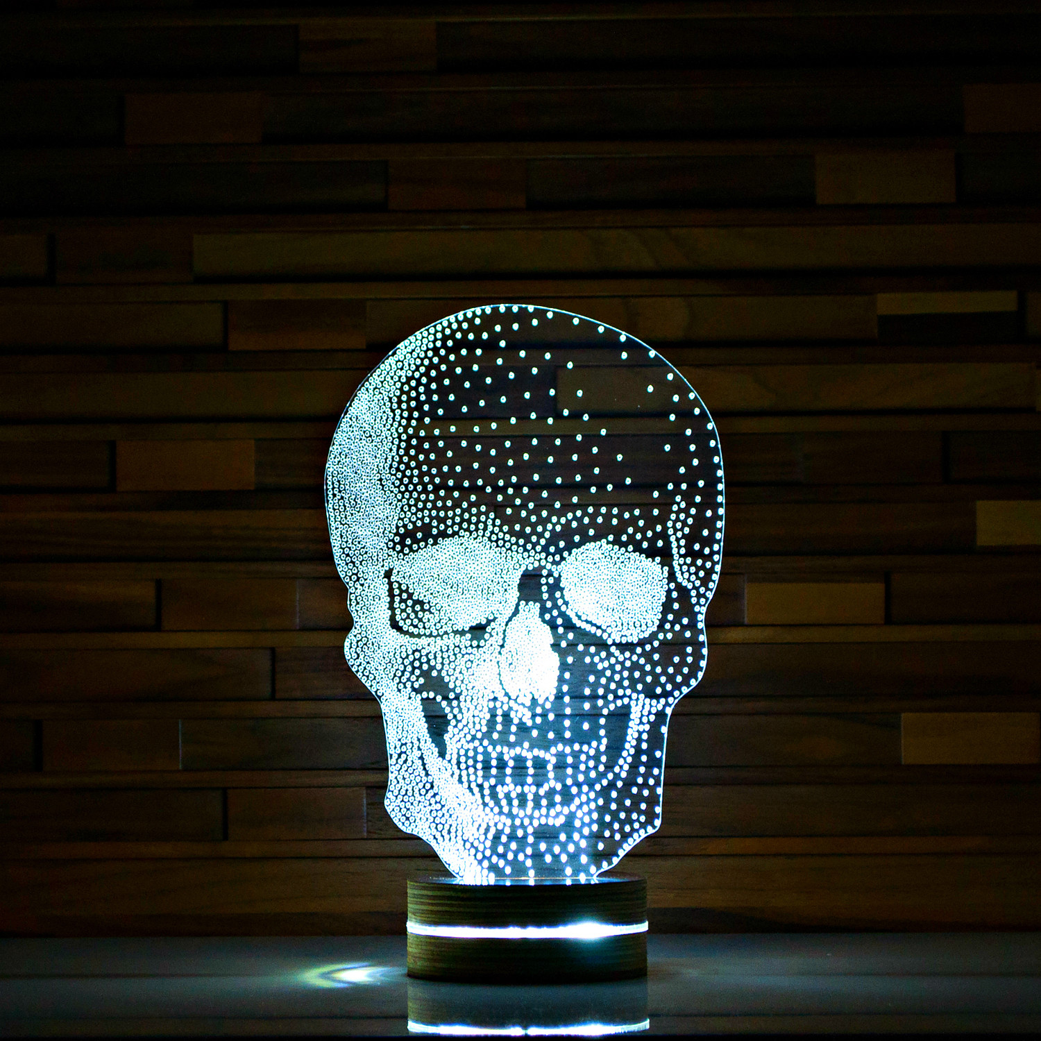 Skull #2 // 3D LED Lamp - ArtisticLamps - Touch of Modern