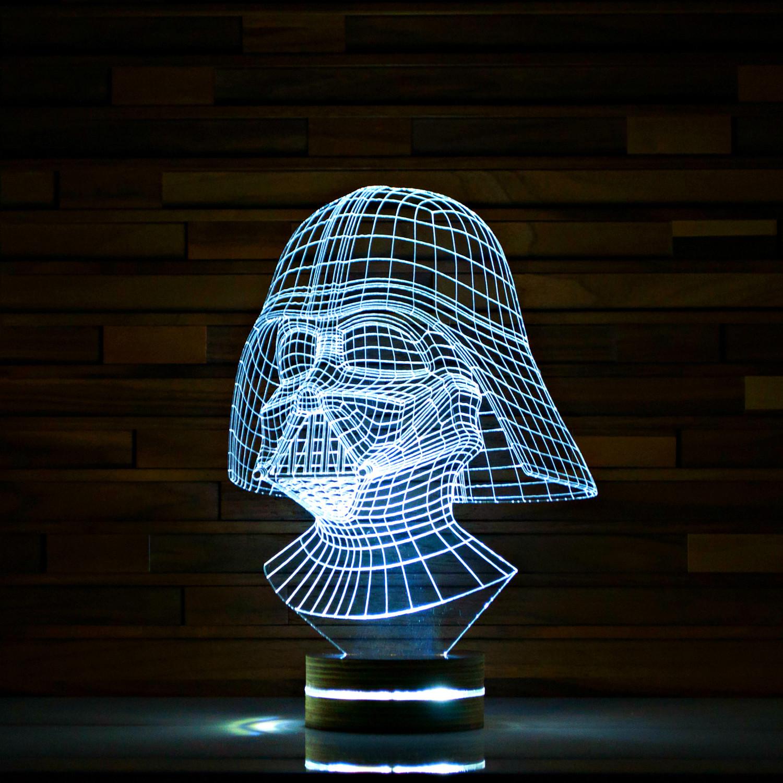 darth vader star wars 3d led lamp artisticlamps touch of modern. Black Bedroom Furniture Sets. Home Design Ideas