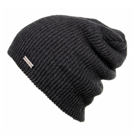 The Forte Slouchy Beanie // Heather Charcoal