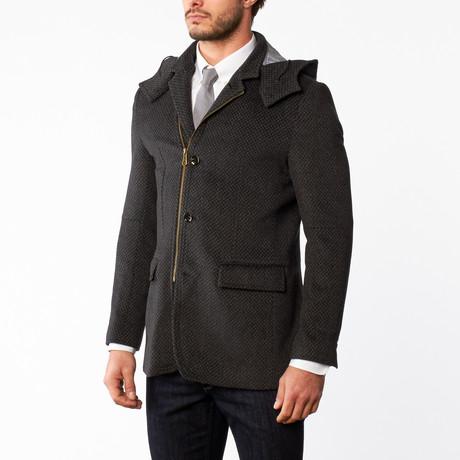 Wool Zip Overcoat // Grey (US: 36R)