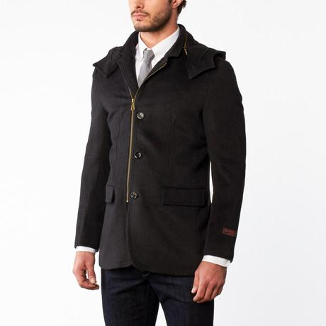 Wool Zip Overcoat // Charcoal (US: 36R)