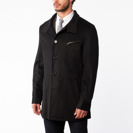 Wool Stand Collar Overcoat // Dark Charcoal (US: 42S)