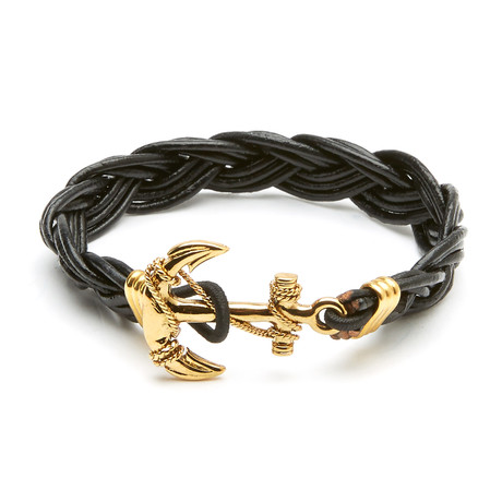 Clemente Braided Bracelet (Brown + White)