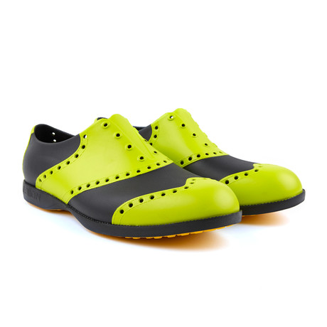 Wingtips Oxford // Green + Black (US: 7)