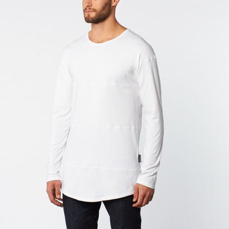 Paneled Long-Sleeve Shirt // White
