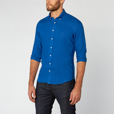 Martin Button-Down Shirt // Parliament Blue