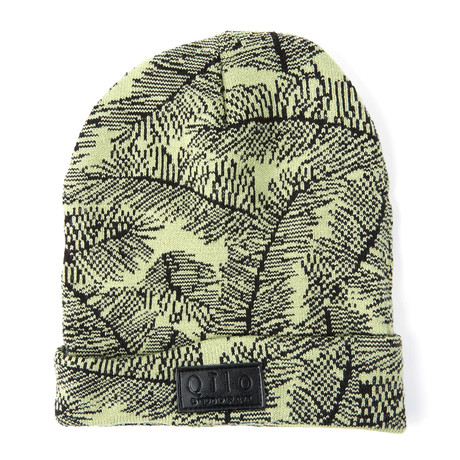 Fern Knit Beanie // Grey + Green