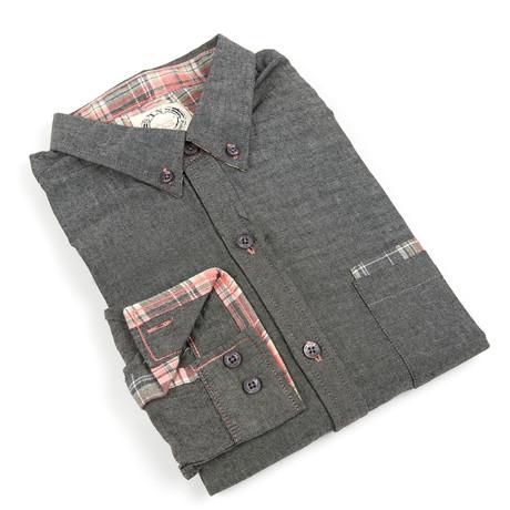 Pocket Contrast Button-Up // Black