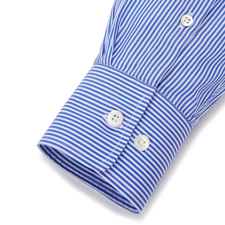 Button Up Dress Shirt Royal Blue Bengal Tailored 15