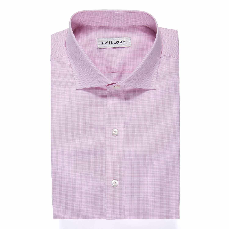 Button Up Dress Shirt Pink Plaid Tailored 15 Neck 32