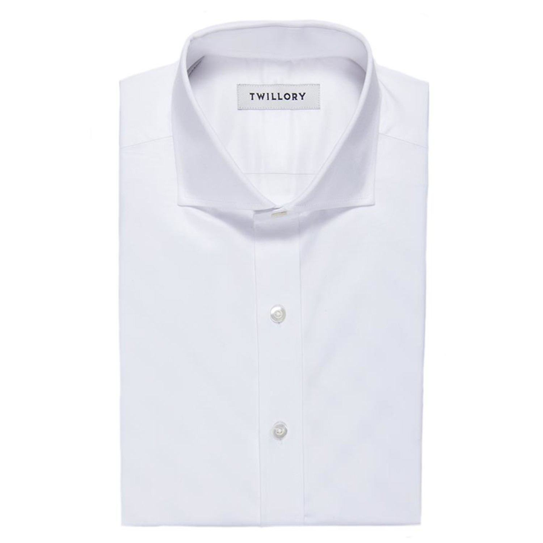 Button Up Dress Shirt White Sea Island Twill