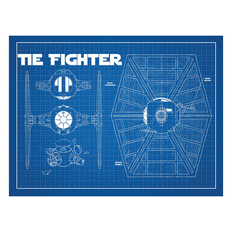 Star Wars Tie Fighter Cutaway (Blue Grid) - Inked & Screened - Touch Tie Fighter Schematic on tie advanced, tie phantom, y-wing schematic,