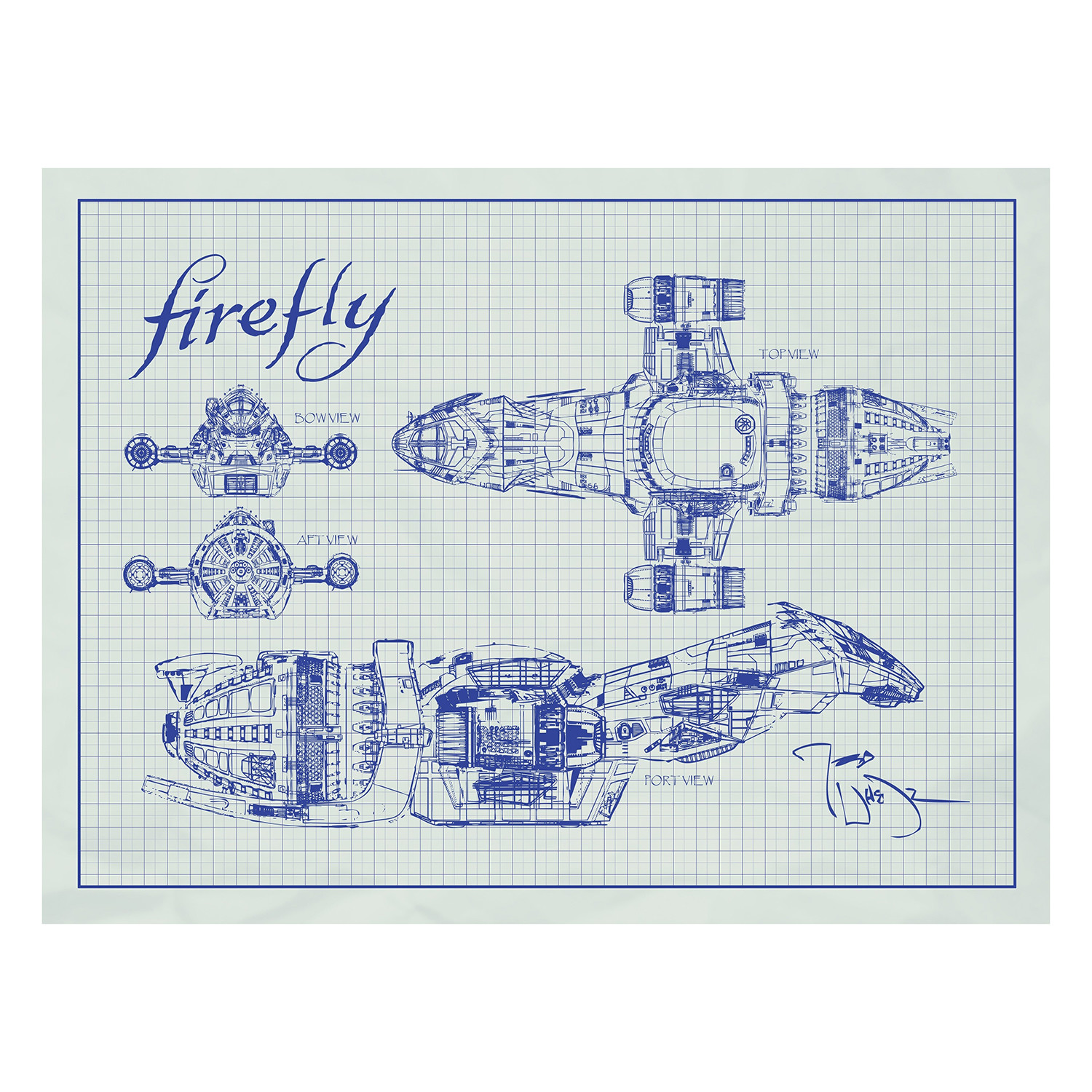 Firefly serenity blueprint blue grid projector supercenter firefly serenity blueprint blue grid malvernweather Image collections